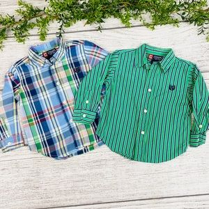 24month Chaps Boys Button Down Dress Shirts